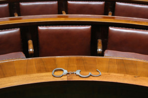 handcuffs in courtroom
