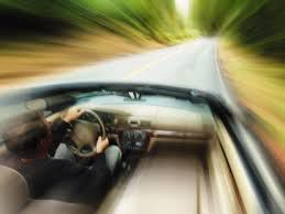 car speeding