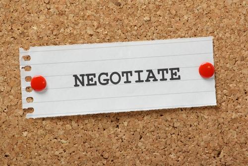 negotiate with prosecutor