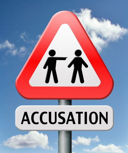 false accusation sign