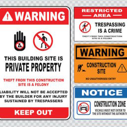 trespassing signs