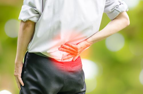person with back pain