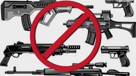 No guns or rifles