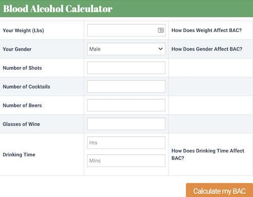 bac calculator screenshot