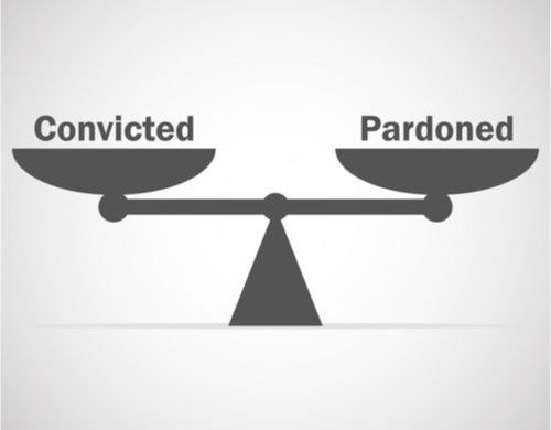 Scales of justice for pardon