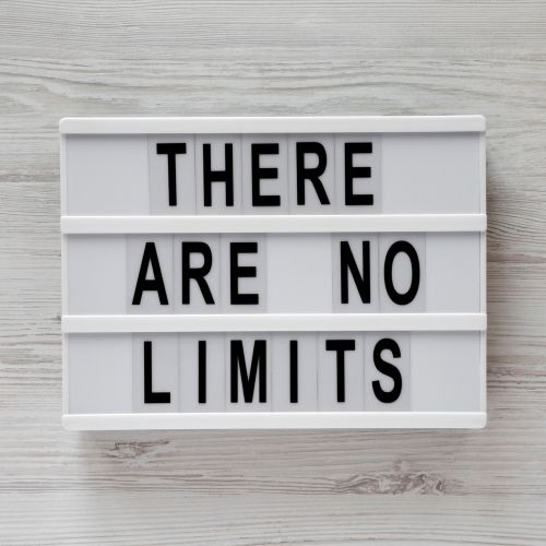 there are no limits sign