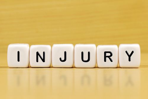 injury spelled out