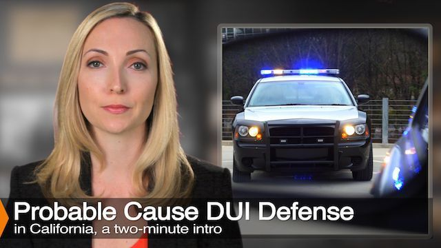 Attorney Diana Aizman Discusses Probable Cause For A DUI Stop