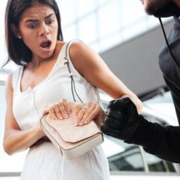 man robbing a woman