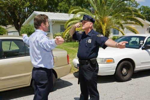 field sobriety test touch your nose