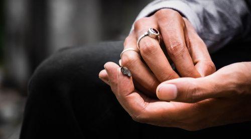 man holding hashish