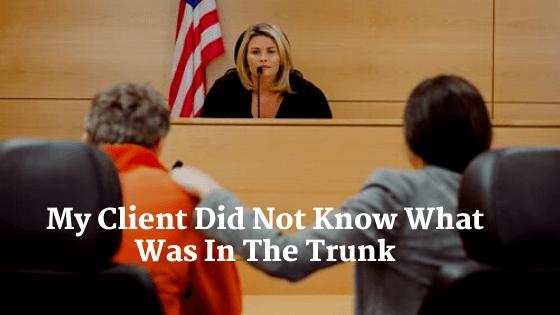 attorney defending client